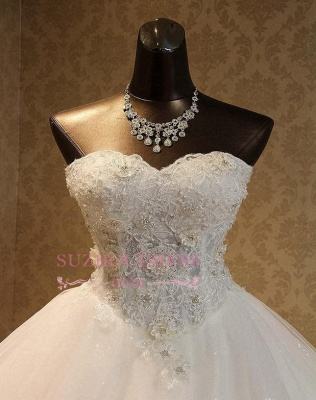 Gorgeous Sweetheart Lace 2020 Wedding Dress Lace-Up Beading Princess Dress_6