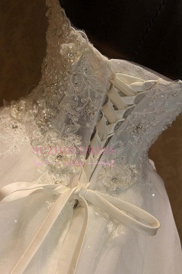 Gorgeous Sweetheart Lace 2020 Wedding Dress Lace-Up Beading Princess Dress_5