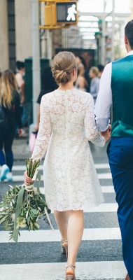 Long Sleeve Lace White Short Wedding Dresses | Chic A-line Cheap Bridal Gowns_2