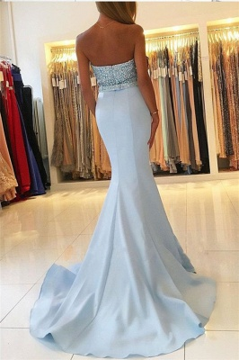 Baby Blue Mermaid Open Back Prom Dresses Sexy 2020 Beads Sequins Formal Evening Dresses BA7755_3