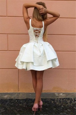 Sexy Straps V-neck Tiered Short Pary Dresses 2020 Lace-Up Puffy Cheap Homecoming Dress BA7022_3