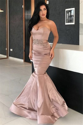 2020 Sexy Mermaid Long Evening Dresses | Sweetheart Appliques Cheap Evening Gown_1