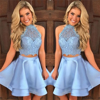 Baby Blue Two Piece Homecoming Dresses Lace Cheap Short Online Hoco Dresses 2020 BA9804_3