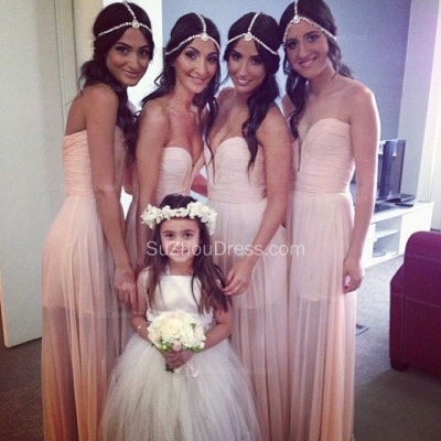 Bridesmaid Dresses 2020 Sweetheart Sleeveless A Line See Through Cheap Party Gowns_1