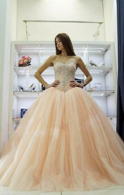 Pretty Sweetheart Princess Ball Gowns Crystals Beading 2020 Wedding Dresses_1