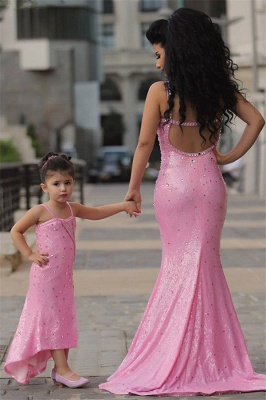 Pretty Pink Crystal Flower Girl Dresses | 2020 Open Back Pageant Dress with Detachbale Skirt_5