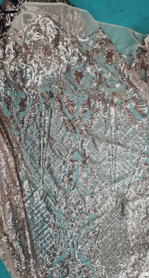 Sparkling Sequins Mermaid Prom Dresses | Sheer Tulle Ruffles Cheap Evening Gowns_3