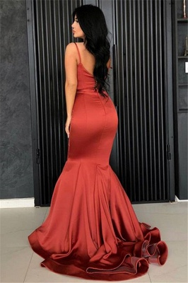 Sexy Mermaid Spaghetti Straps Evening Dresses Cheap | 2020 Long Simple Evening Gowns Online_3