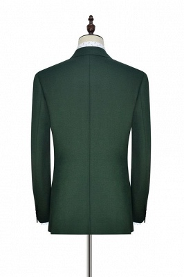 Bespoke Green wool Double Breasted Business Men Suits | 2020 Custom Made  Suit for Formal (Blazer Pants)_4