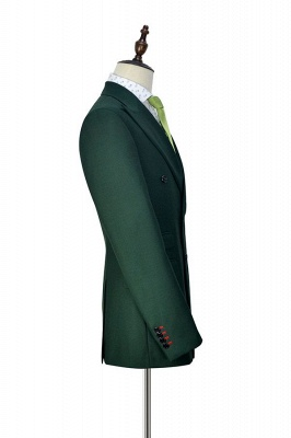 Bespoke Green wool Double Breasted Business Men Suits | 2020 Custom Made  Suit for Formal (Blazer Pants)_3