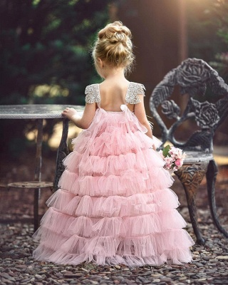 Lovely Pink Tulle Flower Girls Dresses Cheap | Cheap Flowers Cute Girls Pageant Dresses 2020_3